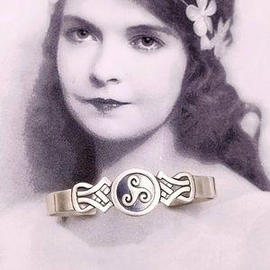 Vintage 925 Sterling Celtic Knot trinity bracelet